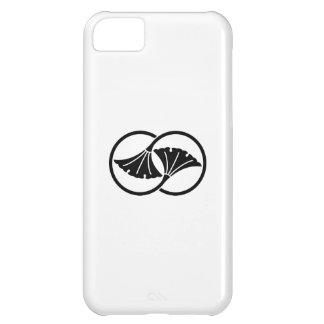 つながれたイチョウの葉の円 iPhone5Cケース