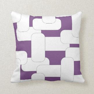 つながれた白及び紫色 クッション
