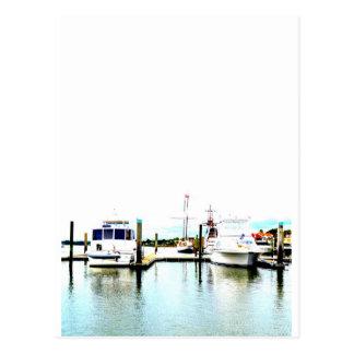 つながれるボート ポストカード