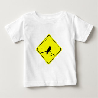 つばめまたはSwiftsの警告標識愛野鳥観察 ベビーTシャツ