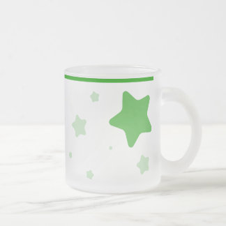 つば-緑が付いている星明かりのマグ フロストグラスマグカップ