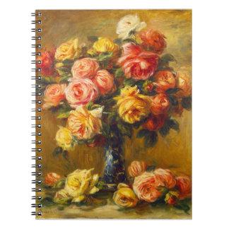 つぼのノートのルノアールのバラ ノートブック