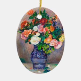 つぼのピエールAugusteルノアールの絵を描くことの花 セラミックオーナメント