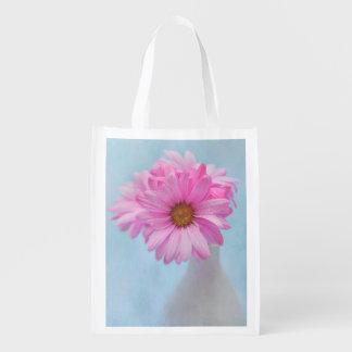 つぼのピンクの花の写真 エコバッグ