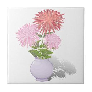 つぼの花のダリア タイル