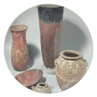 つぼの選択、Naqada I/IIの期間、4000-3100 プレート