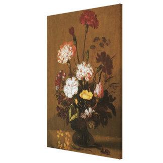 つぼ、ヴィンテージのバロックの花の静物画の花 キャンバスプリント