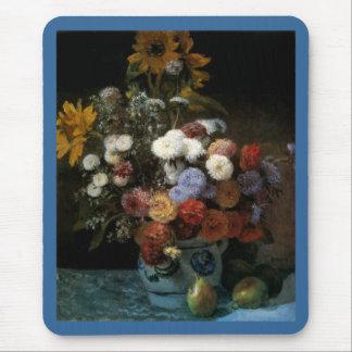つぼ(1869年)のピエール=オーギュスト・ルノワールの花 マウスパッド
