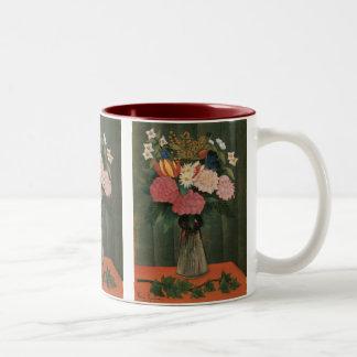 つぼ(1909年)のアンリ・ルソーの花 ツートーンマグカップ