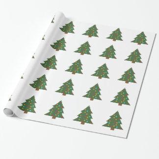 つまらないものが付いているクリスマスツリー ラッピングペーパー
