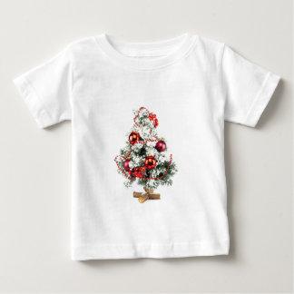 つまらないものが付いている少し飾られたクリスマスツリー ベビーTシャツ