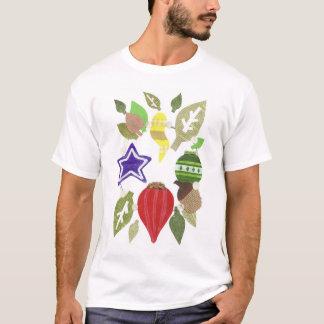 つまらないもののリース背景の人無しのTシャツ Tシャツ