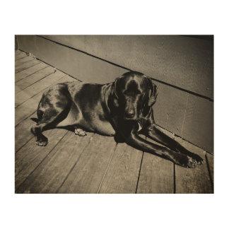 つるしている猟犬 ウッドウォールアート