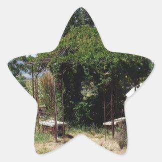 つる植物が付いている望楼 星シール