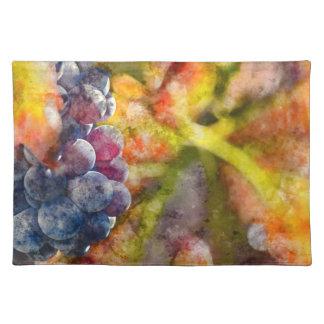 つる植物のカラフルなブドウ酒用ブドウ ランチョンマット