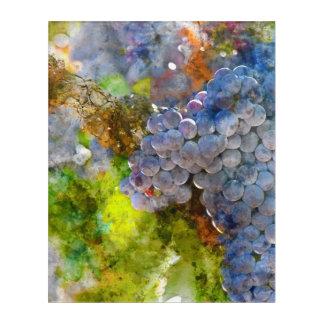 つる植物のブドウ アクリルウォールアート