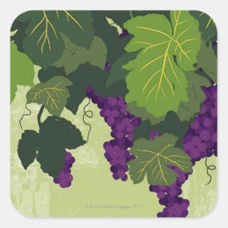 つる植物のブドウ スクエアシール