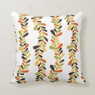 つる植物のプリントの正方形の枕 クッション