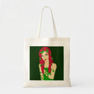 つる植物の女の子 トートバッグ
