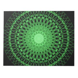つる植物の曼荼羅 ノートパッド