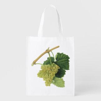 つる植物の白ワインのブドウ、ヴィンテージの食糧フルーツ エコバッグ
