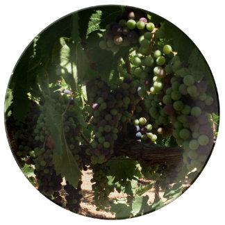 つる植物の装飾的なプレートのブドウ 磁器プレート