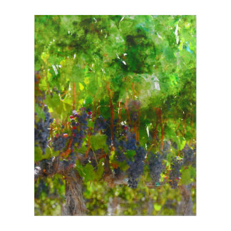 つる植物の赤いブドウ アクリルウォールアート