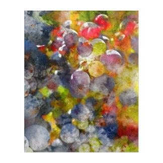 つる植物の赤ワインのブドウ アクリルウォールアート