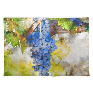 つる植物の赤ワインのブドウ ランチョンマット