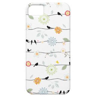 つる植物のiPhone 5の場合の鳥 iPhone SE/5/5s ケース