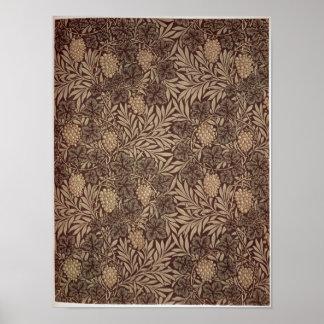 「つる植物」の壁紙のデザイン1873年 ポスター