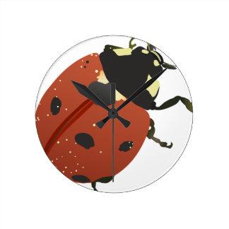 てんとう虫のオフィスの家は運命の運命を個人化します ラウンド壁時計