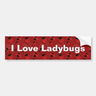 てんとう虫のデザインのプリントをくまなく バンパーステッカー