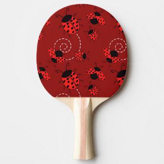 てんとう虫のデザインをくまなく 卓球ラケット