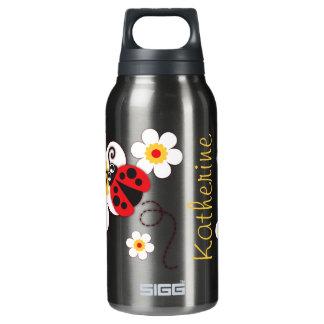 てんとう虫の女の子の名前の赤い紫色の飲み物のボトル 断熱ウォーターボトル