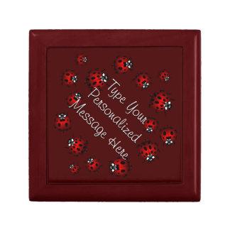 てんとう虫の宝石箱の名前入りな記念品箱のギフト ギフトボックス