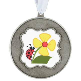 てんとう虫の花 オーナメント