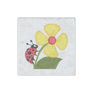 てんとう虫の花 ストーンマグネット