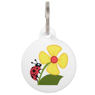 てんとう虫の花 ペット ネームタグ