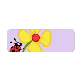 てんとう虫の花 ラベル