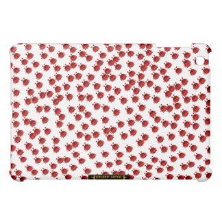 てんとう虫のladybeetleのカブトムシのかわいい虫の赤い女性虫 iPad mini case