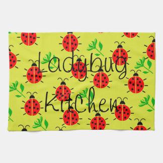 てんとう虫パターン キッチンタオル