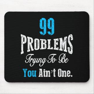 であることを試みる99の問題は1つではないです マウスパッド
