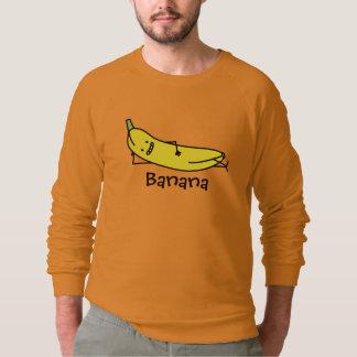 であるバナナ微笑し、およびリラックスさせる置きます スウェットシャツ