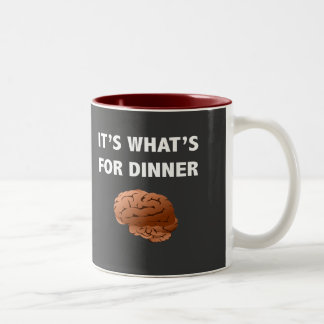 である何が夕食のためゾンビ ツートーンマグカップ