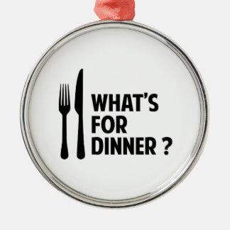 である何が夕食のため メタルオーナメント