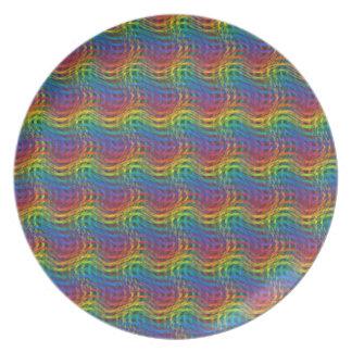 でこぼこの虹のプレート プレート