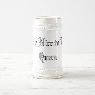 """""""です女王""""であることはニース ビールジョッキ"""