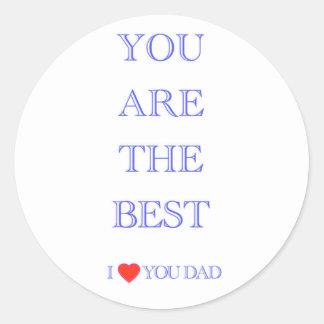 """""""です最も最高のなパパ"""" ラウンドシール"""