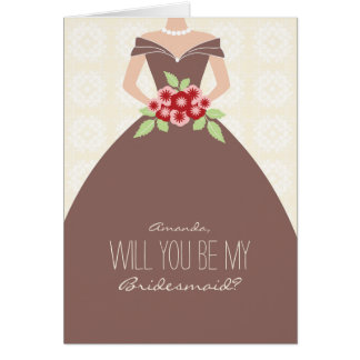 です私の新婦付添人カード(チョコレート) カード